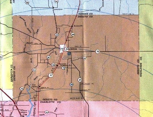 Counties Of Florida Map.Desoto County Florida Maps