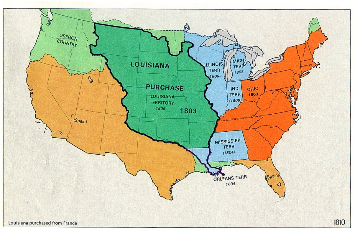 Map Of Louisiana Territory.The Louisiana Purchase The Cherokee Times